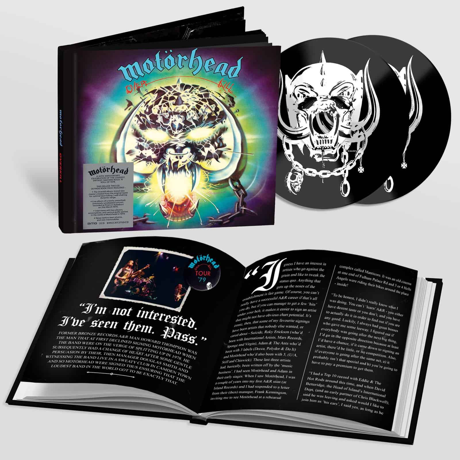 Overkill 40th Anniversary Deluxe 2 CD Edition