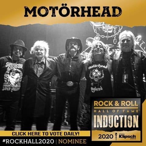 MOTORHEAD ROCK N' ROLL HALL OF FAME VOTE