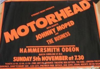 Hammersmith Nov 78 poster