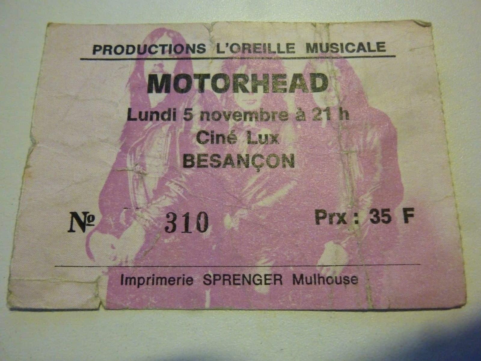 Motorhead Besancon 1979