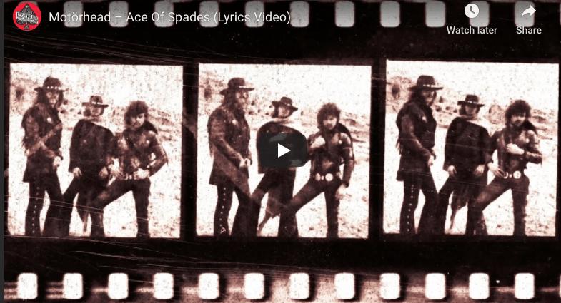ace of spades lyric video